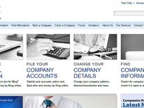 The website for Companies House in Cardiff