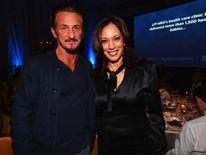 Sean Penn and Kamala Harris