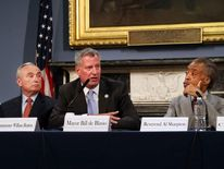 Mayor De Blasio Hosts Roundtable On Police-Community Relations