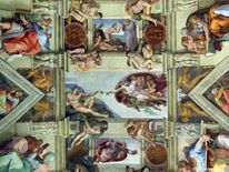 Detail of the ceiling of the Sistene Chapel