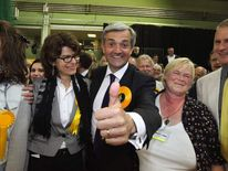 Chris Huhne and ex-wife Vicky Pryce