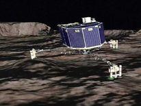 ESA computer animation Animation of Rosetta's Philae lander landing on comet