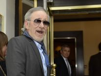 Steven Spielberg arrives at the Martinez Hotel in Cannes to attend a photocall of the film festival jury.