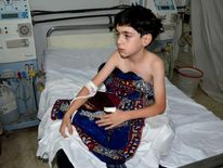A child victim of the alleged Syria gas attack