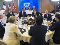 Leaders at the G7 summit in Brussels