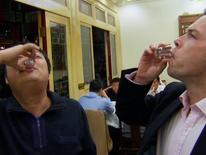 Sky's Mark Stone tastes Baijiu