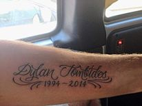 Dylan Tombides tattoo