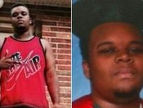 Photos of Michael Brown (left and right)