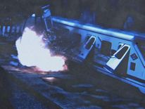 Exploding train