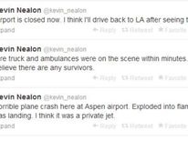 Plane crashes at Aspen - Kevin Nealon tweet