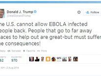 Donald Trump Ebola Rant