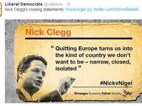 Twitter reacts to Europe debate.