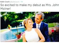 220614 US $$ Katie Couric Ties The Knot