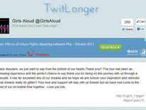 The Twitter end message on March 20