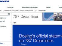 Boeing statement on its website