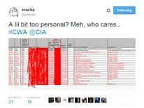 Screenshot of hacker's tweet