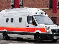 Prison van at Nottingham Crown Court