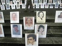 Portraits of people disappeared during the armed conflict in Colombia