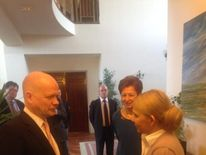 William Hague meets Yulia Tymoshenko (Pic: Tim Marshall)