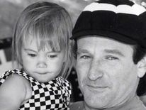 Robin Williams with his daughter Zelda Rae Williams