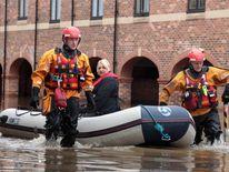 Fire crews in York