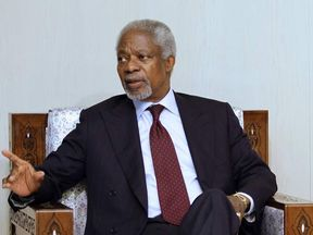 UN-Arab League peace envoy Kofi Annan