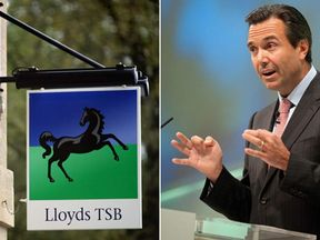 A Lloyds bank branch and Antonio Horta-Osorio