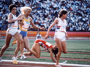 The famous 1984 collision between Mary Decker and Zola Budd