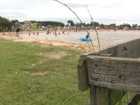 The boy was pulled from the water at the blue lagoon beach at Bosworth Water Park