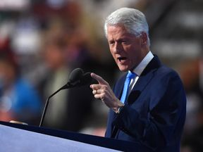 Bill Clinton addresses the DNC after Hillary's nomination