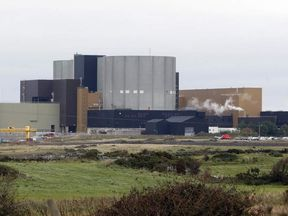 Wylfa Nuclear Power Station is pictured