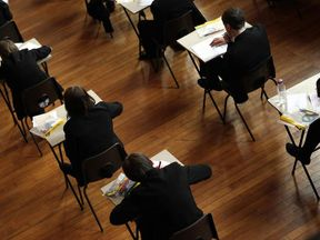 Pupils taking GCSE exams