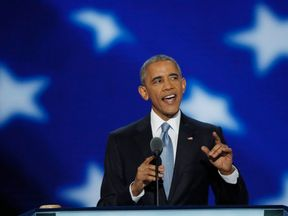 Barack Obama at the 2016 DNC
