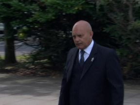 Ray Wilkins arrives at court for his hearing