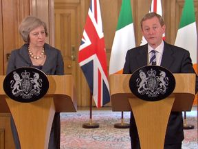 Theresa May and Enda Kenny discuss IS terrorism and EU vote