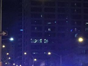 The scene of the shooting in Austin. Pic: @Doritosr