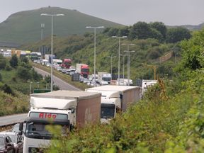 Severe tailbacks have formed on roads to Dover since French authorities increased border checks