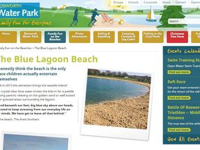 The Bosworth Water Park's webpage on its Blue Lagoon Beach