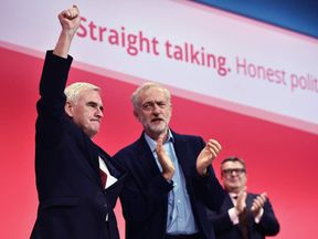 John McDonnell with Jeremy Corbyn at Labour Party Conference