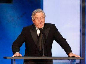 Actor Robert De Niro jokes as he speaks at the American Film Institute�s 41st Life Achievement Award Gala in Hollywood