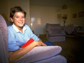 Zola Budd pictured at home in the UK in 1985, the year she broke the world 5000m record as a teenager