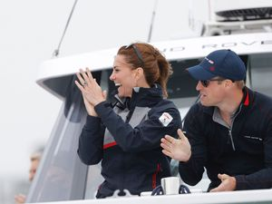 William And Kate Cheer On America's Cup Crew