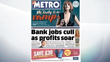 The Metro says that Lloyds is cutting 3,000 jobs despite doubling its pre=tax profite