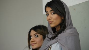 Two young women in Iran