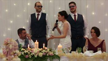 Bride makes novel speech at wedding, using self penned rap lyrics to tune of Ice Ice Baby