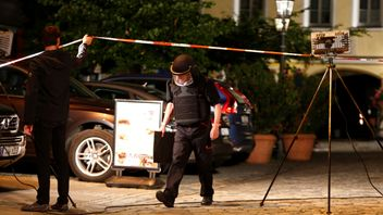 Police secure area after explosion in Ansbach, near Nuremberg