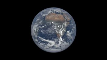 NASA's EPIC camera is situated in space between Earth and the sun