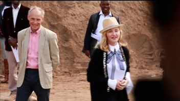 Madonna visits a hospital building project in Malawi which is being funded by her charity Raising Malawi
