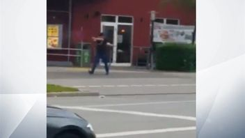 Footage reportedly shows a gunman firing at a crowd