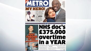 Metro covers the overtime rates paid to hospital consultants, with one earning £375,000 on top of his annual salary